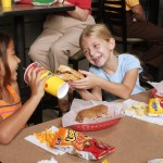Kids enjoying Sobik's Subs