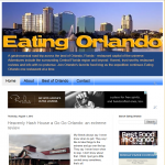 Orlando-based food blogger website focused on new content and the ability to blog from the road via iPhones, iPads, laptops, etc.