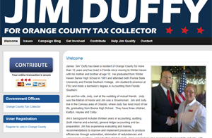 The Politics of Effective Website Design: Jim Duffy for Orange County Tax Collector