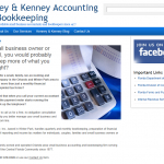 Accountants are usually no-nonsense type people, and the website for Kenney and Kenney Accounting and Bookkeeping in Winter Park, Florida is no exception. I liked the way no-nonsense looks on the web.