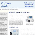 An alarm company needs a website that conveys stability and confidence. Client was very happy with the result.