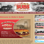 Skibo's Subs is a traditional sub sandwich shop and they wanted a traditional look that highlighted the shop's history in the community while showcasing their amazing subs. The mix of color and black and white photos really worked.