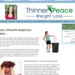 Simple and clean, the website for Thinner Peace really conveys compassion, understanding and determination. I really like how the client's personality shines through on every page.